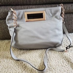Michael Kors light gray shoulder bag
